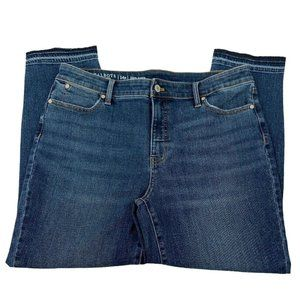 Talbots Womens Flawless Slim Ankle Jeans 14 Petite